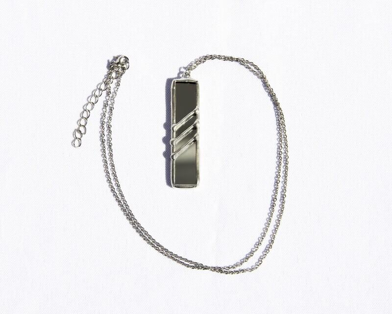 Mirror Rectangle Necklace