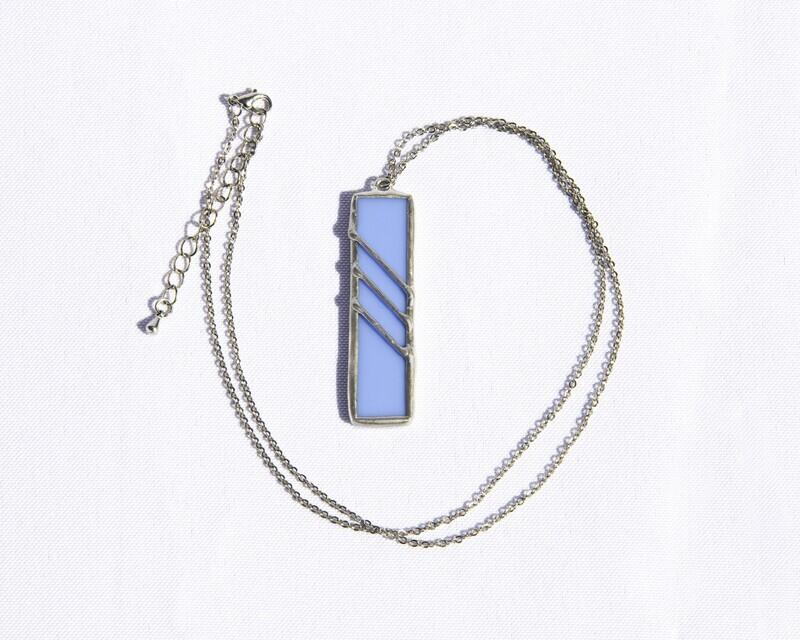 Blue Rectangle Necklace