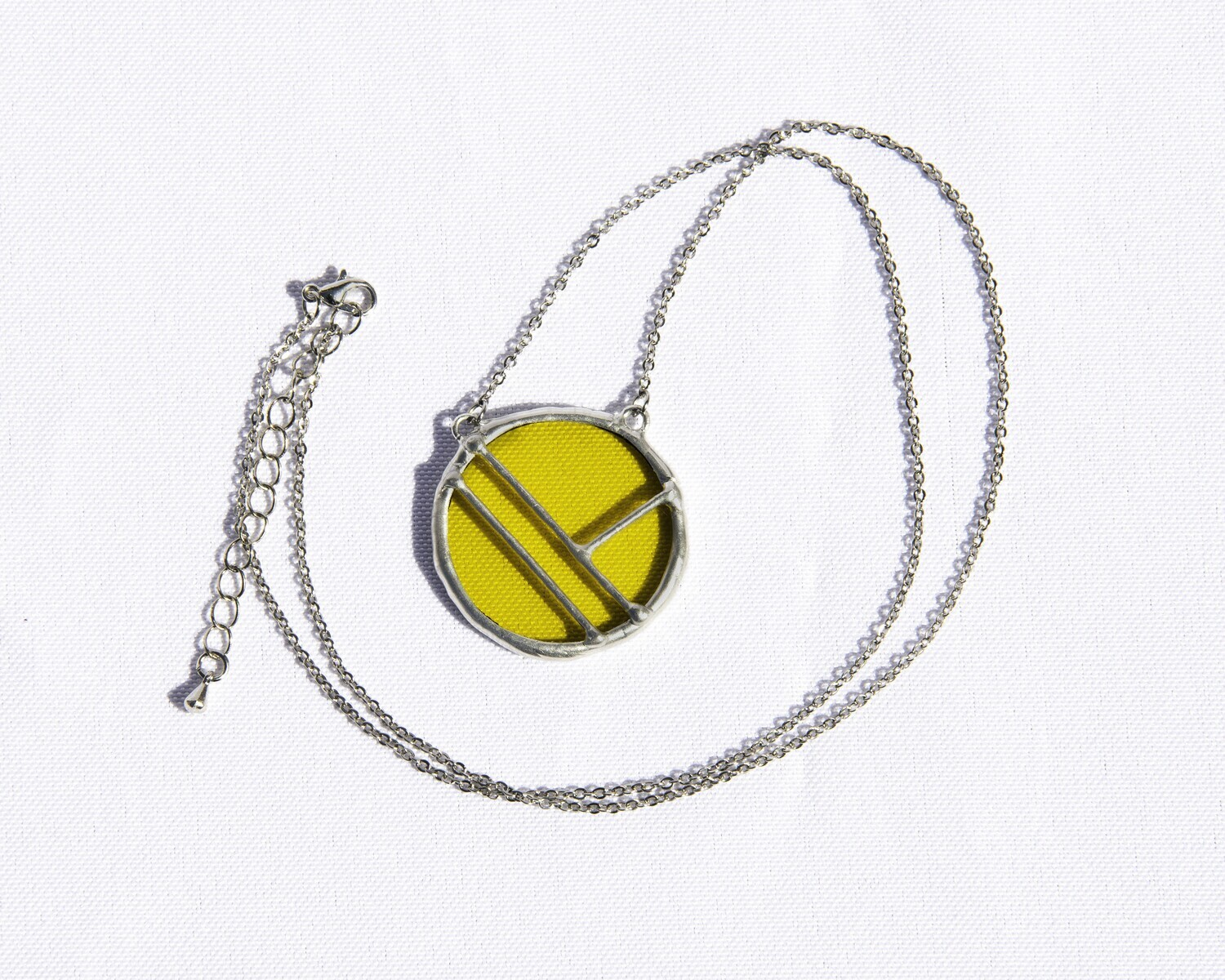 Yellow Circle Necklace