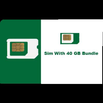 Sim with 40 gb bundle