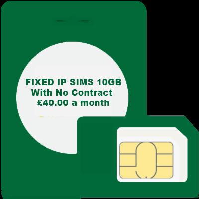 FIXED IP SIMS 10GB