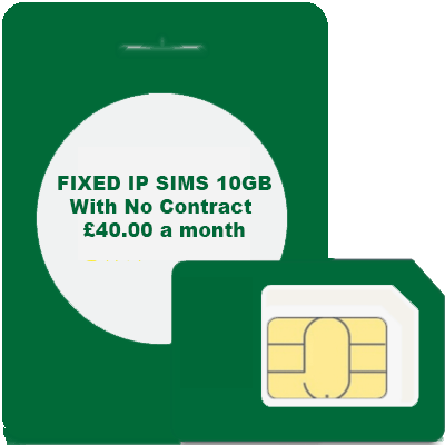 FIXED IP SIMS 10GB