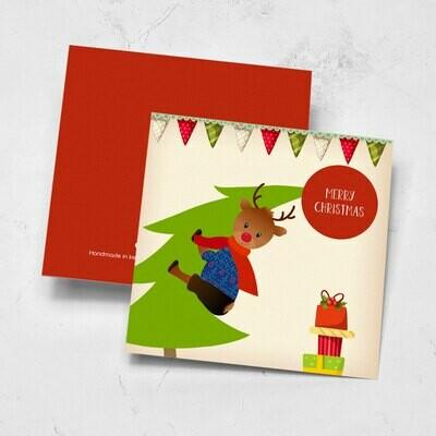 Rudolf The Reindeer Christmas Card