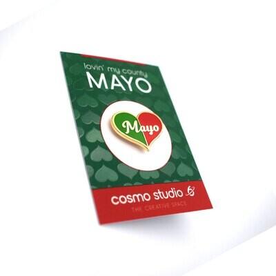 Lovin' My County Mayo - Gold Plated Enamel Pin