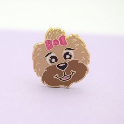 Cosmo Paws - Betty - Gold Enamel Pin