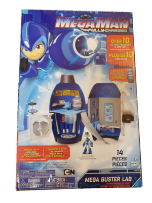 Mega Man Fully Charged Mega Buster Lab Transforming Playset