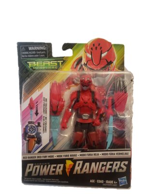 Power Rangers Beast Morphers Red Ranger Red Fury Mode