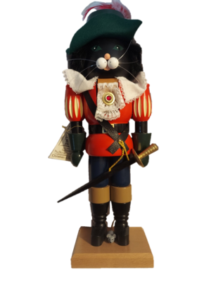 SN German Puss In Boots 14 Inch Nutcracker