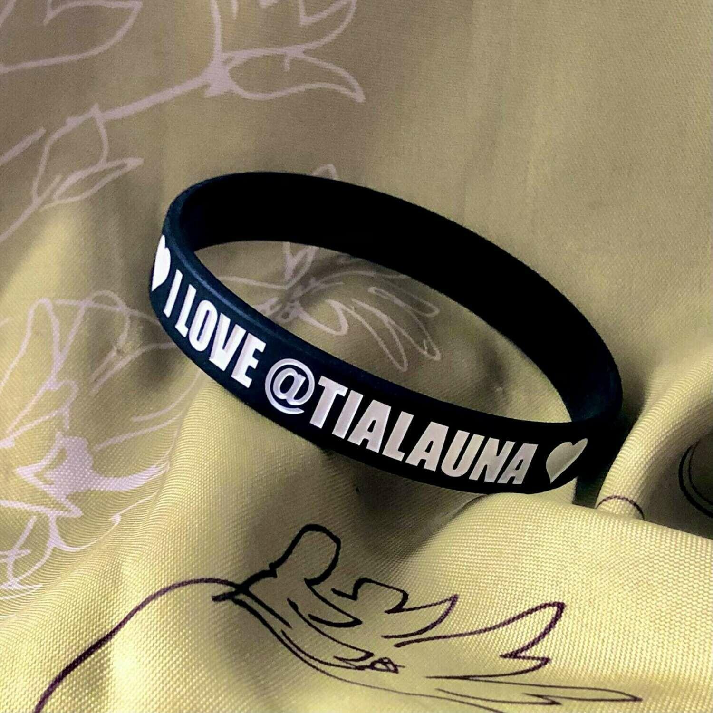 """I Love Tialauna"" Wristband"