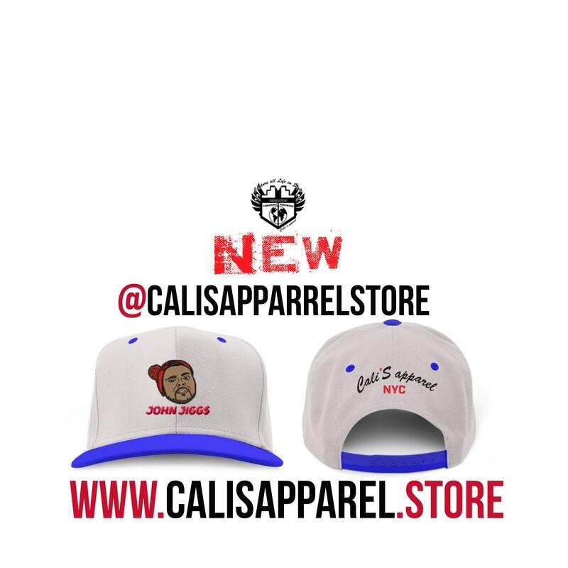 Cali's apparel NYC x John Jiggs Heather Royal Unisex Snapback