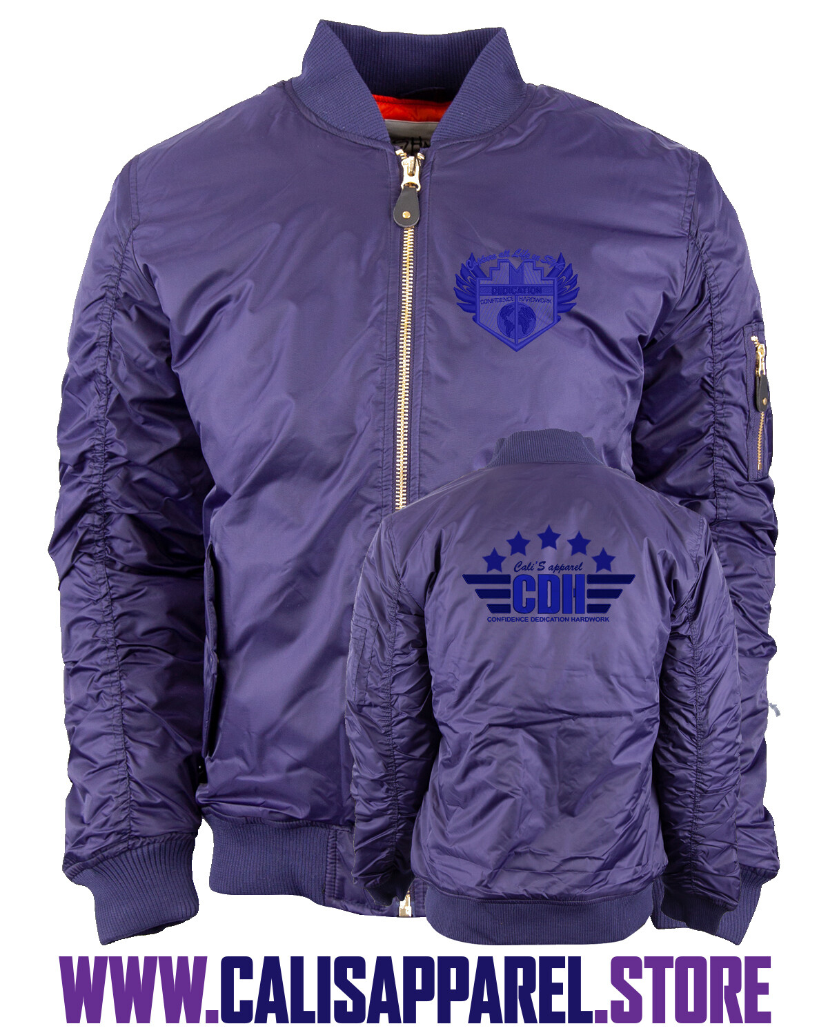 Capture all Life in Style Purple 5 Star General CDH Bomber Jacket