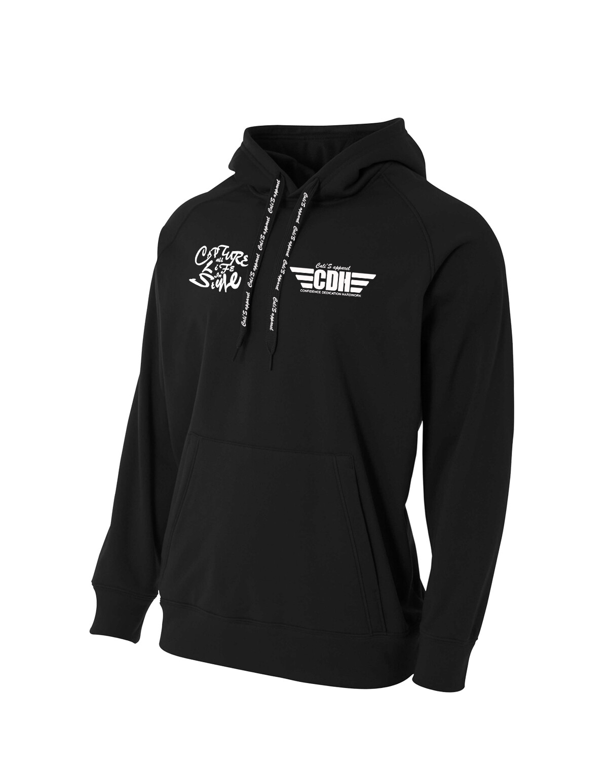 Cali's apparel Graff CDH Wings Black Unisex Fleece Pullover Hoodie