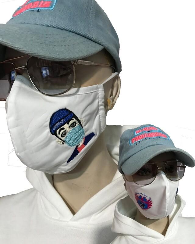 White Cali's apparel NYC x Kino Music Tapa Boca/ Facemask
