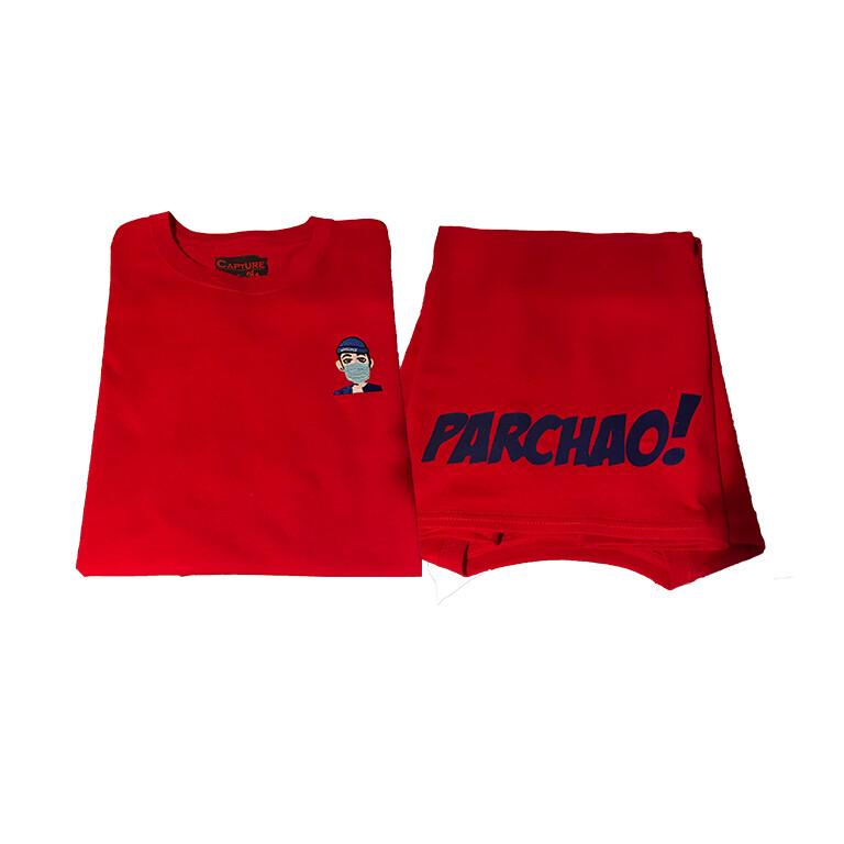 Cali's apparel NYC x Kino Music Tapa Boca/ Parchao Red Unisex Crewneck Tee
