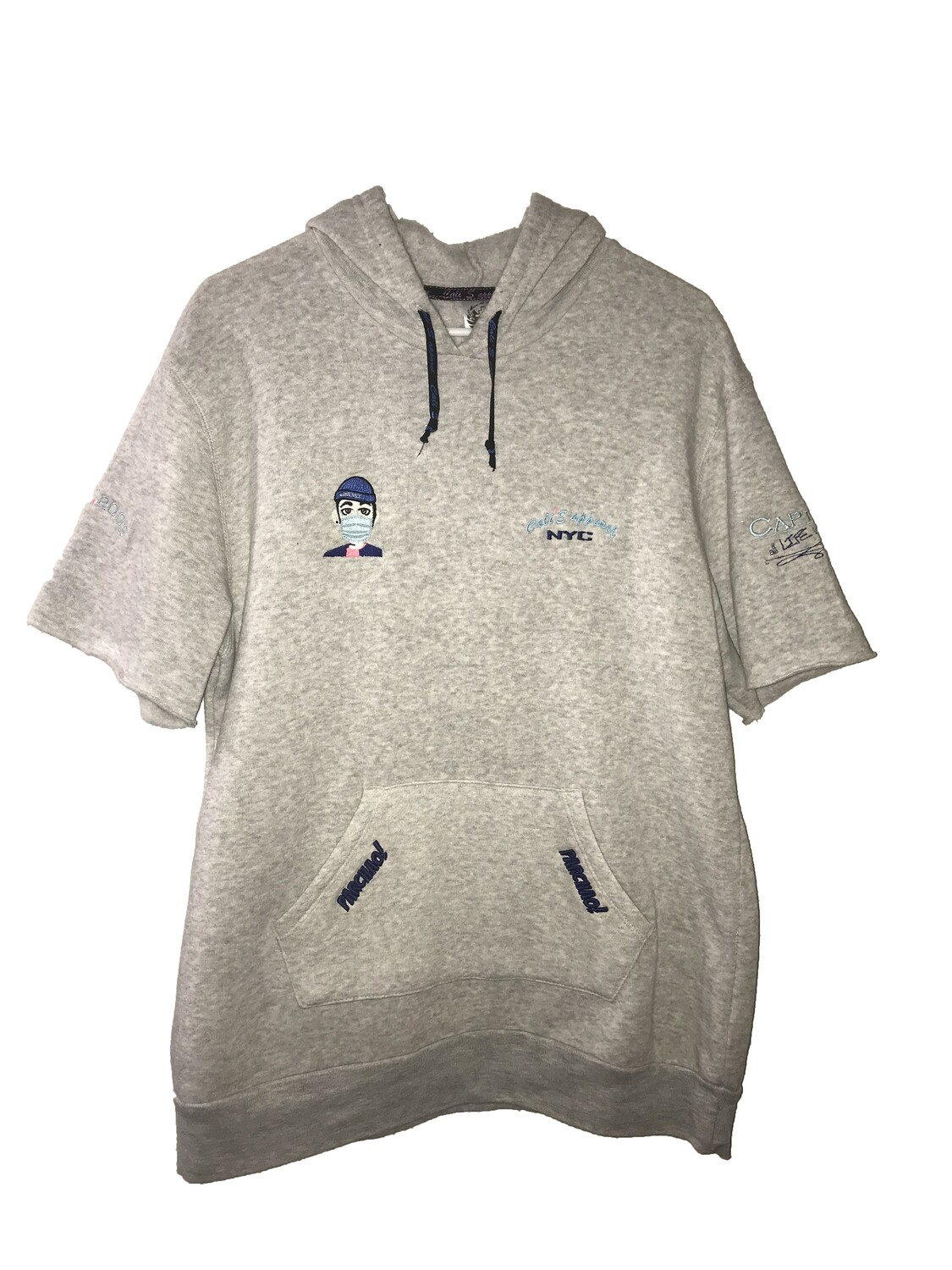 Cali's apparel NYC Heather Grey S&F x Kino Music Parchao Short Sleeve Pullover Hoodie