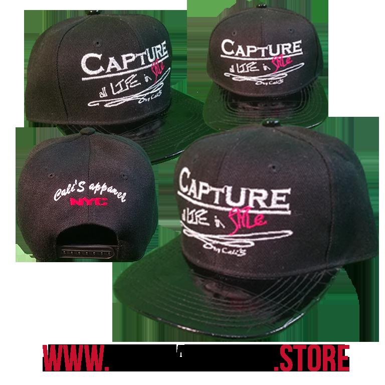Cali's apparel Capture all Life in Style Alligator Black | Black Under-Brim SnapBack