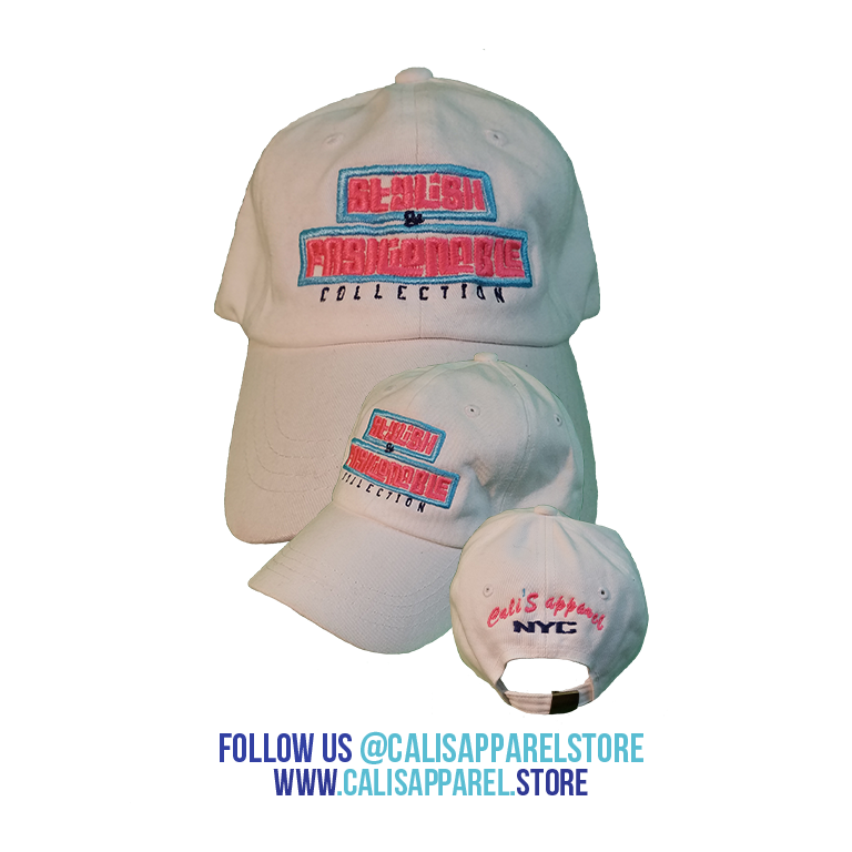 Cali's apparel White STYLISH & FASHIONABLE Baseball Cap with Gold Metal Buckle