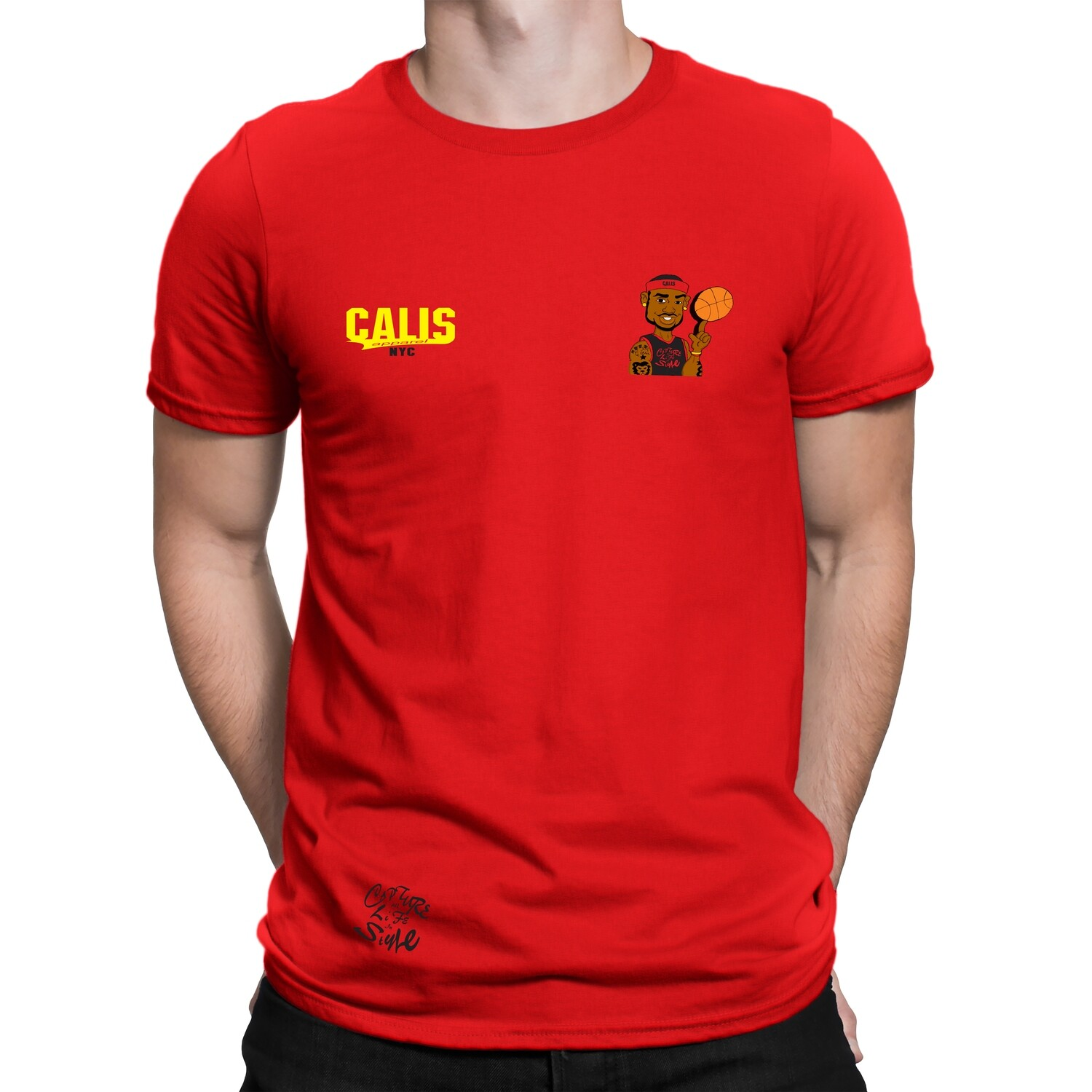 Cali's apparel Red Ballin Like Lebron Tees