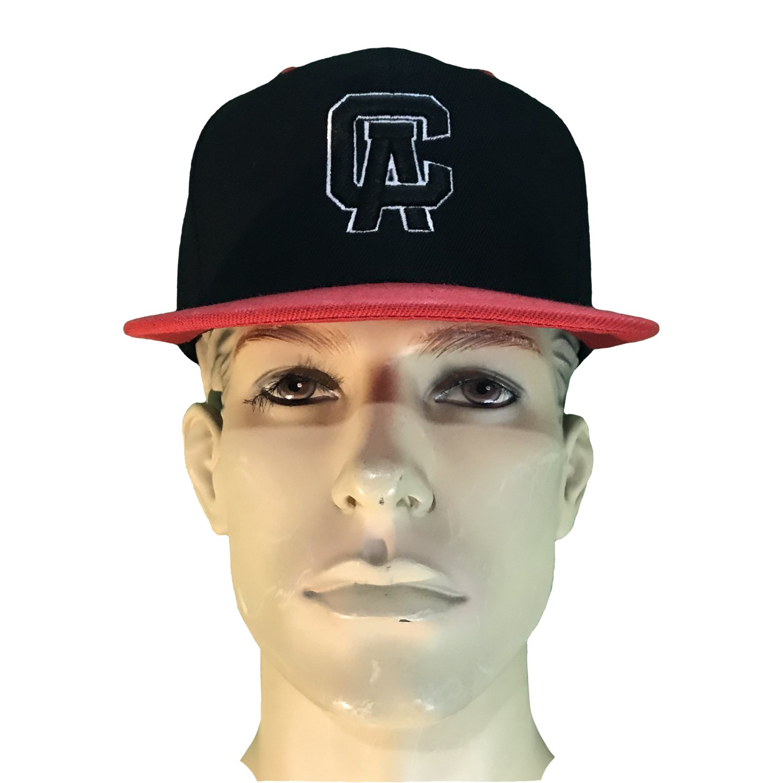 Cali's apparel CA PUFF Black/Red Brim UNISEX SNAPBACK