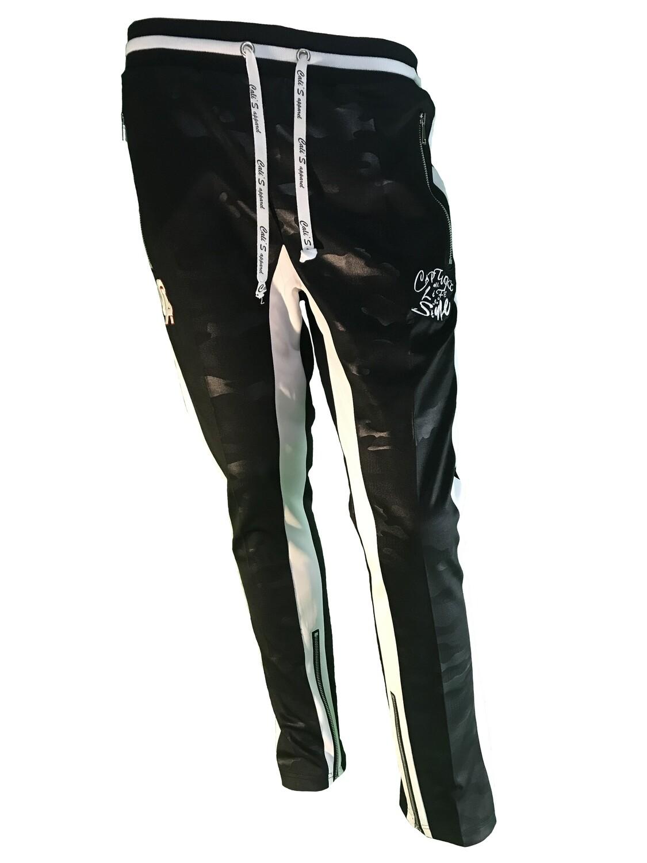 Cali's apparel Men's Black Camo Interlock Joggers