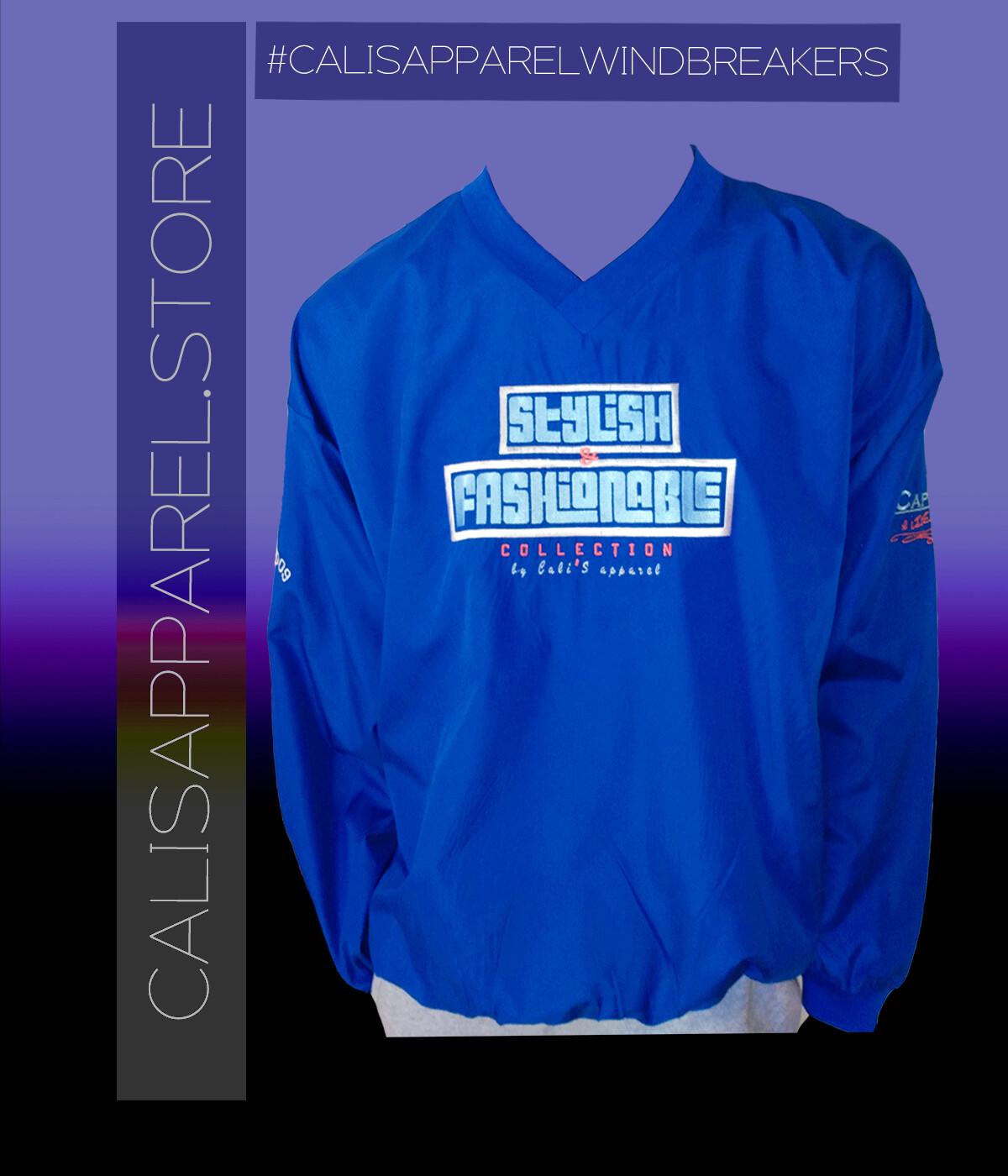 Cali's apparel Royal S&F Unisex V Neck Pullover Windbreaker Jacket