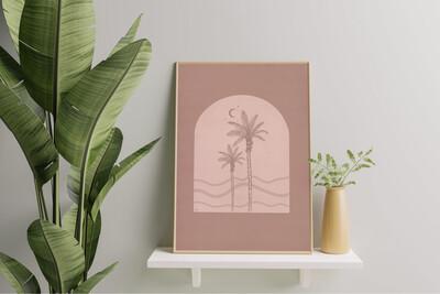 Cali Breeze Art Print