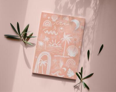 Tropical Icons Art Print
