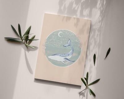 Mystic Whale Art Print