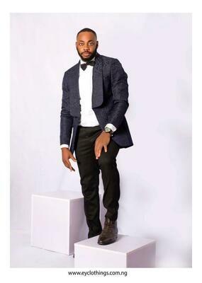 Blue Patterned Suit