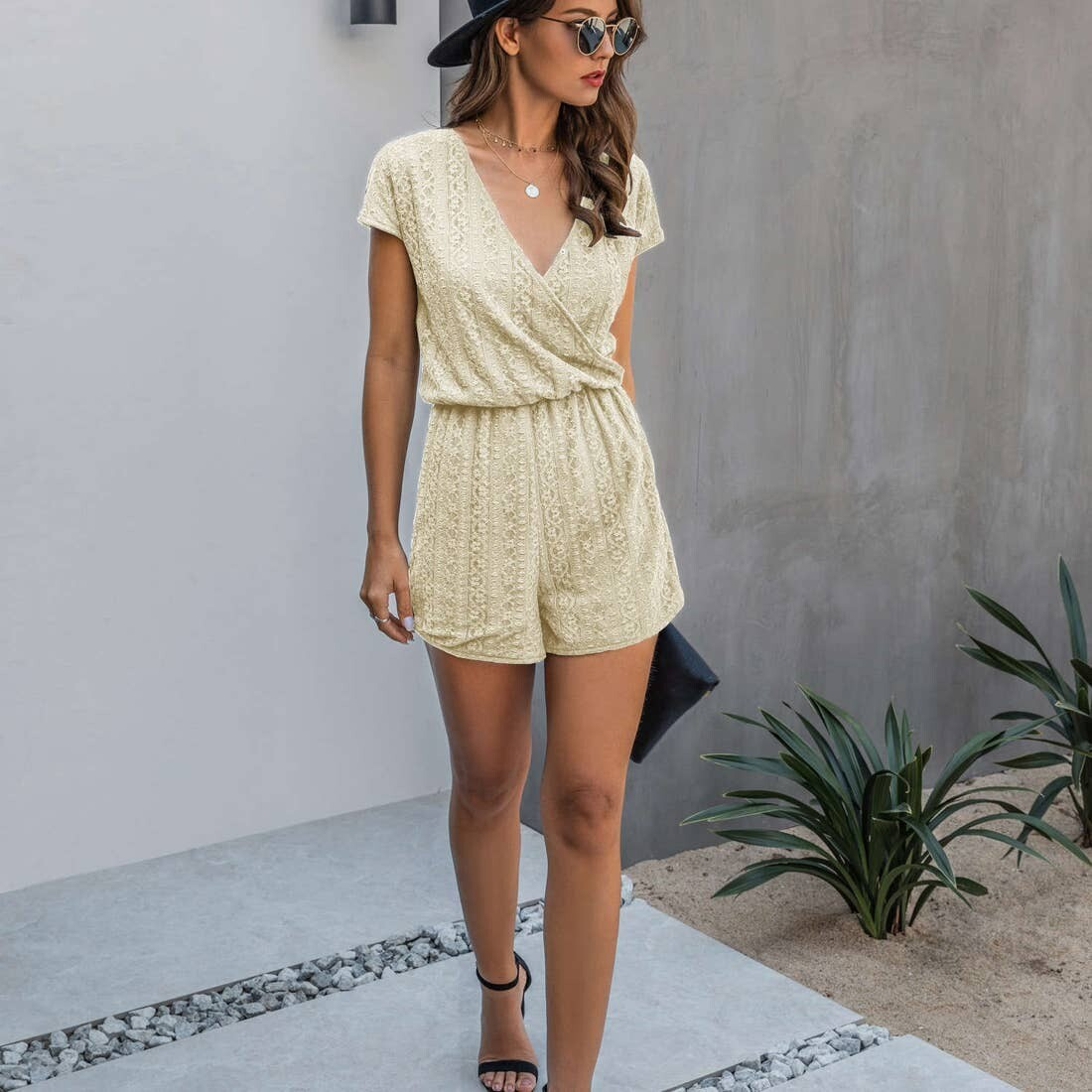 LACED LINED ROMPER