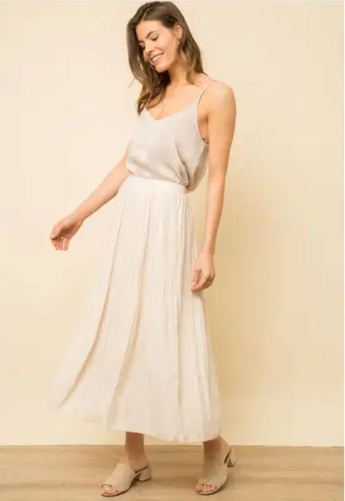 Soft Midi Pleated Skirt