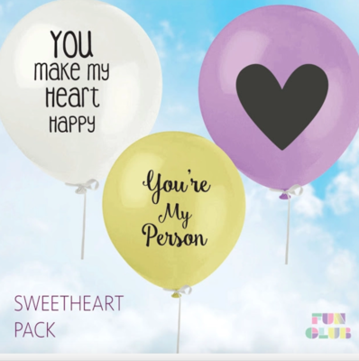 Sweetheart Balloon Pack