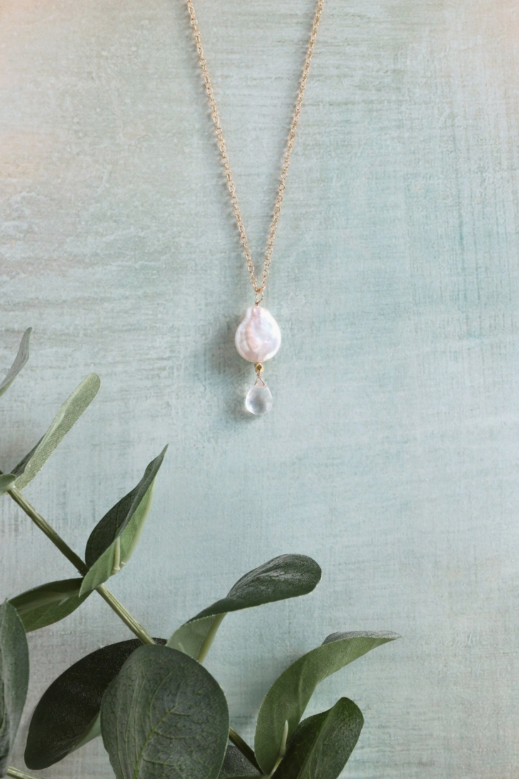 Pearl + Crystal Necklace