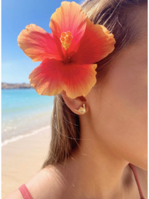 Aloha Shaka Studs Gold