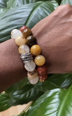 """Seay Leela James Collection - """"My history is all year, my song is everyday."""" - Leela James - Mixed Color Bracelet"""