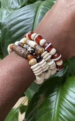 """Seay Jill Scott Collection - """"Beauty is the size of your heart, not the size of your jeans."""" - Jill Scott - Large Brown Focal bracelet"""