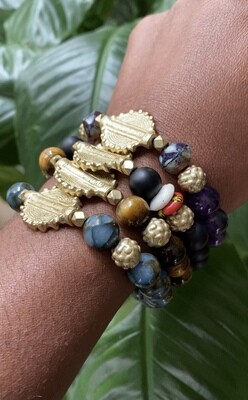 """Seay Sanaa Lathan Collection - """"Find the joy and keep going."""" - Sanaa Lathan - Clinquant bracelet"""