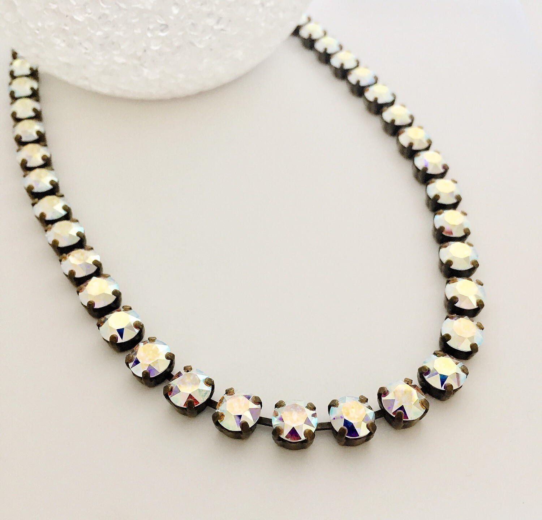 Beautiful Aurora Borialis Crystal Necklace