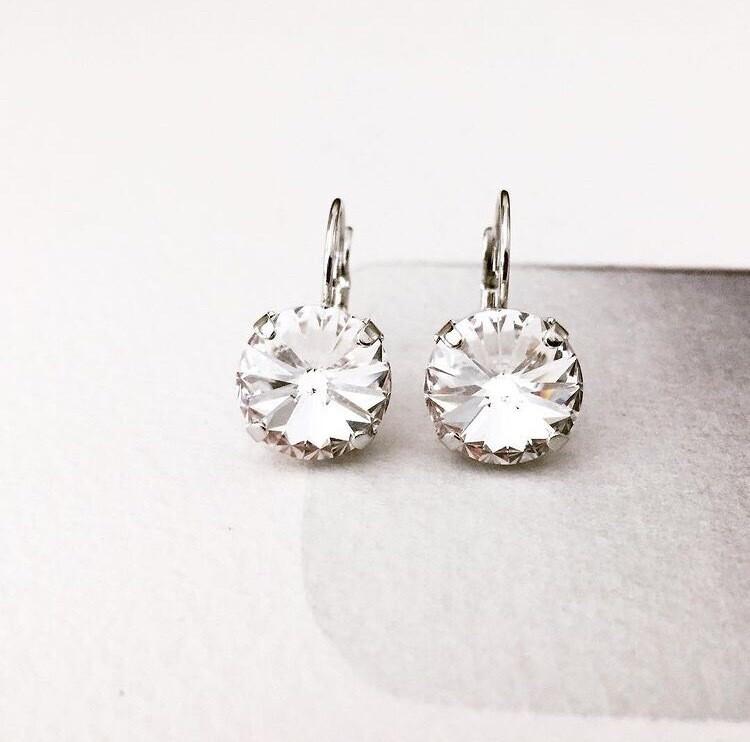 Clear Crystal Earrings, Bridal Earrings