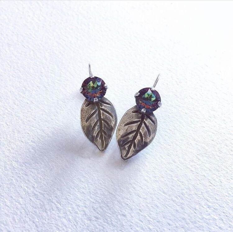 Volcano Leaf Earrings