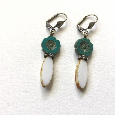 Flower Glass Earrings