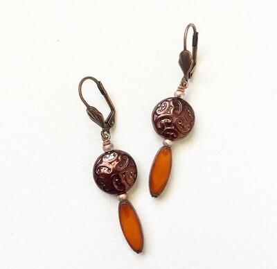 Ornate Glass Earrings