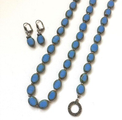 Misty Blue Necklace Set