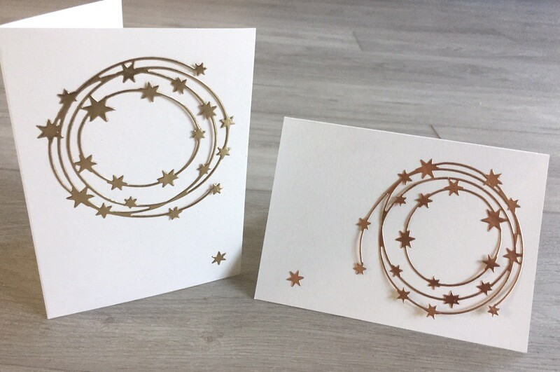 Beautiful Star Greeting Cards