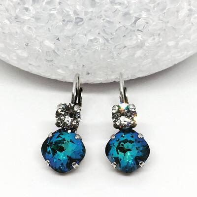Bermuda Blue Crystal Earrings