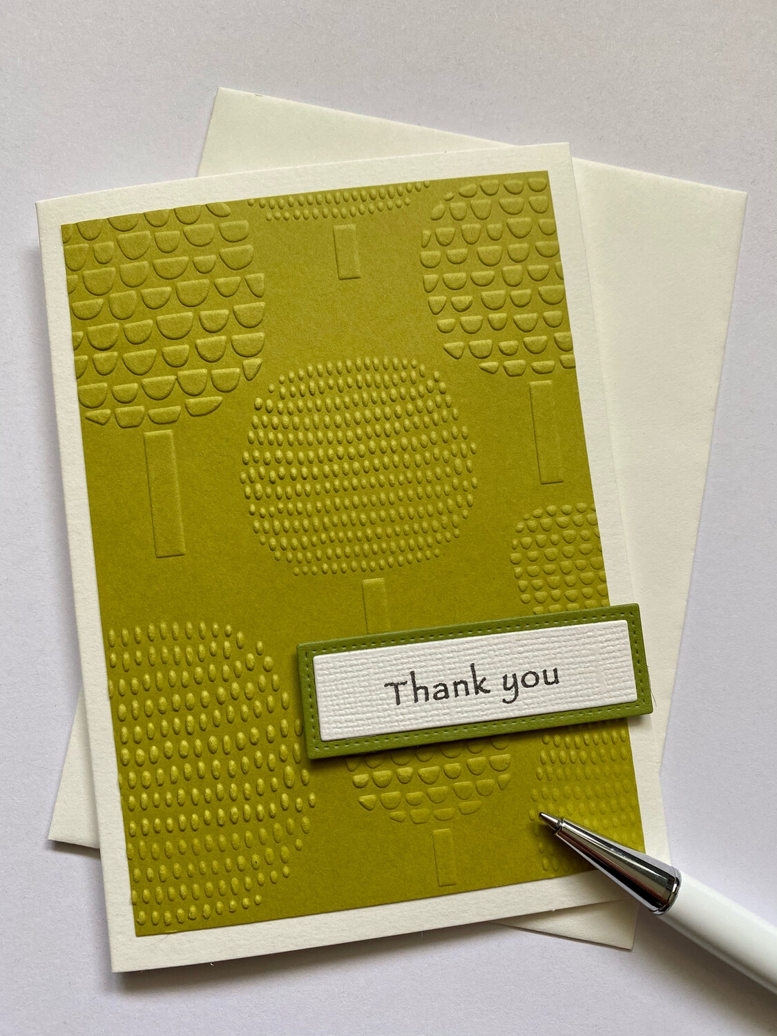 Greeting Card - Embossed Tree/Dandelion Card/Thank you Card/Make a wish Card