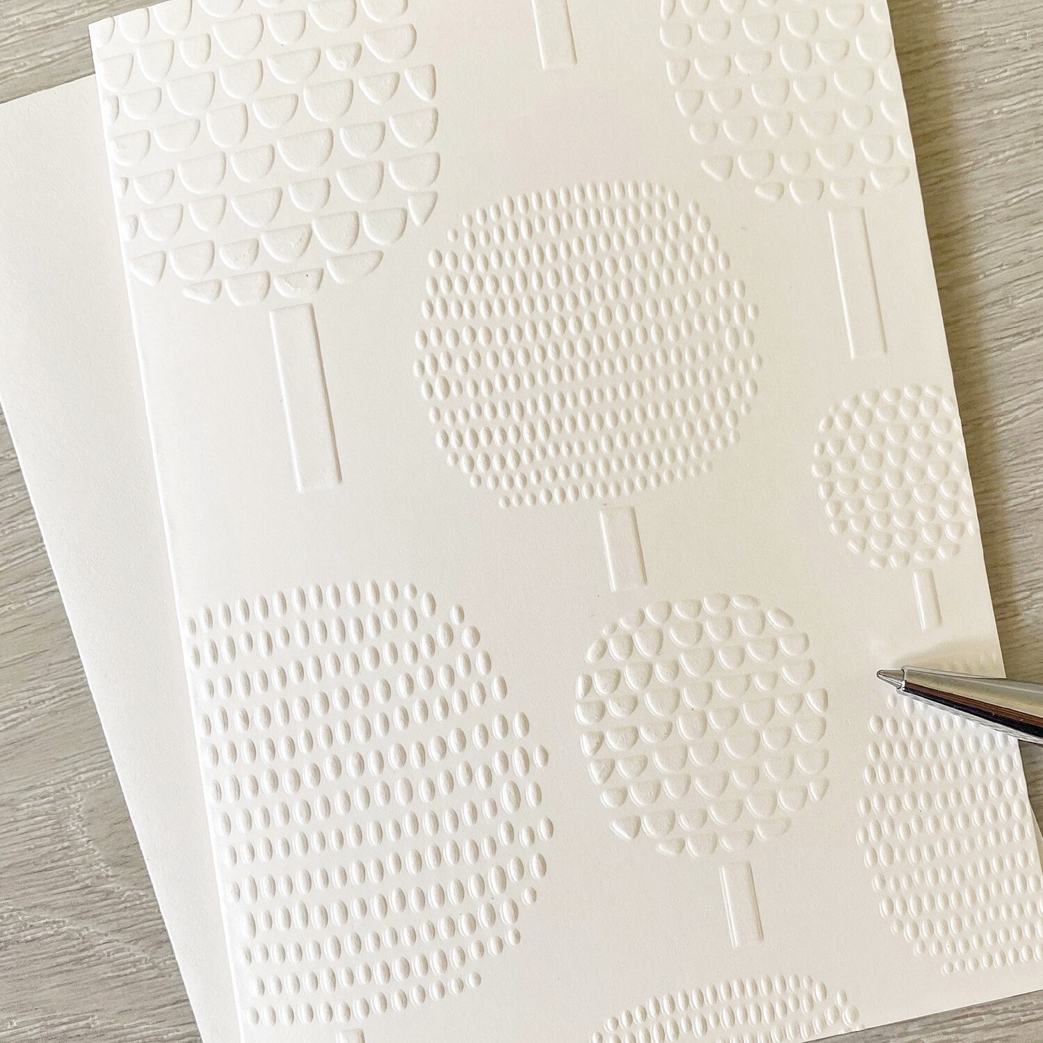 Greeting Card - Embossed Tree Cards