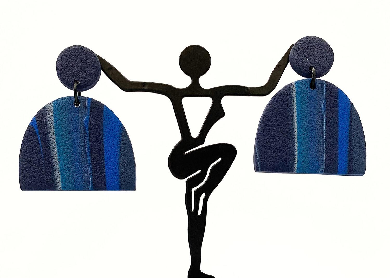 Clay Earrings, Feeling Blue