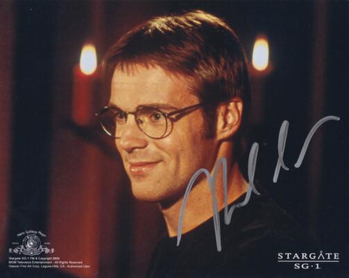 Michael Shanks signed photo