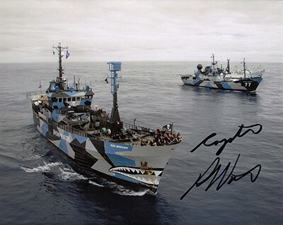 Signed Sea Shepherd Photo